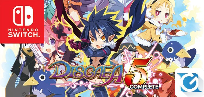 Disgaea 5 Complete e' disponibile per Nintendo Switch