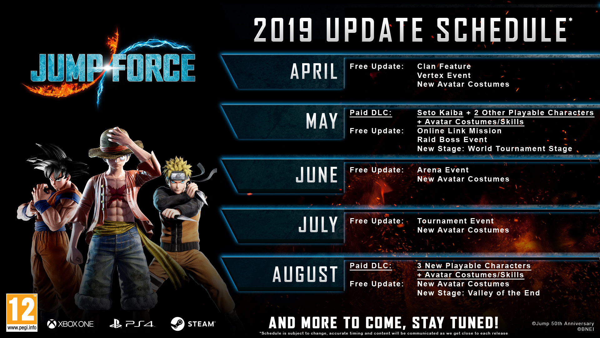 Jump Force Roadmap
