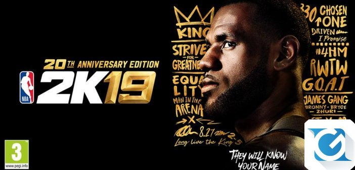 LeBron James e' protagonista di NBA 2K19 20th Anniversary Edition