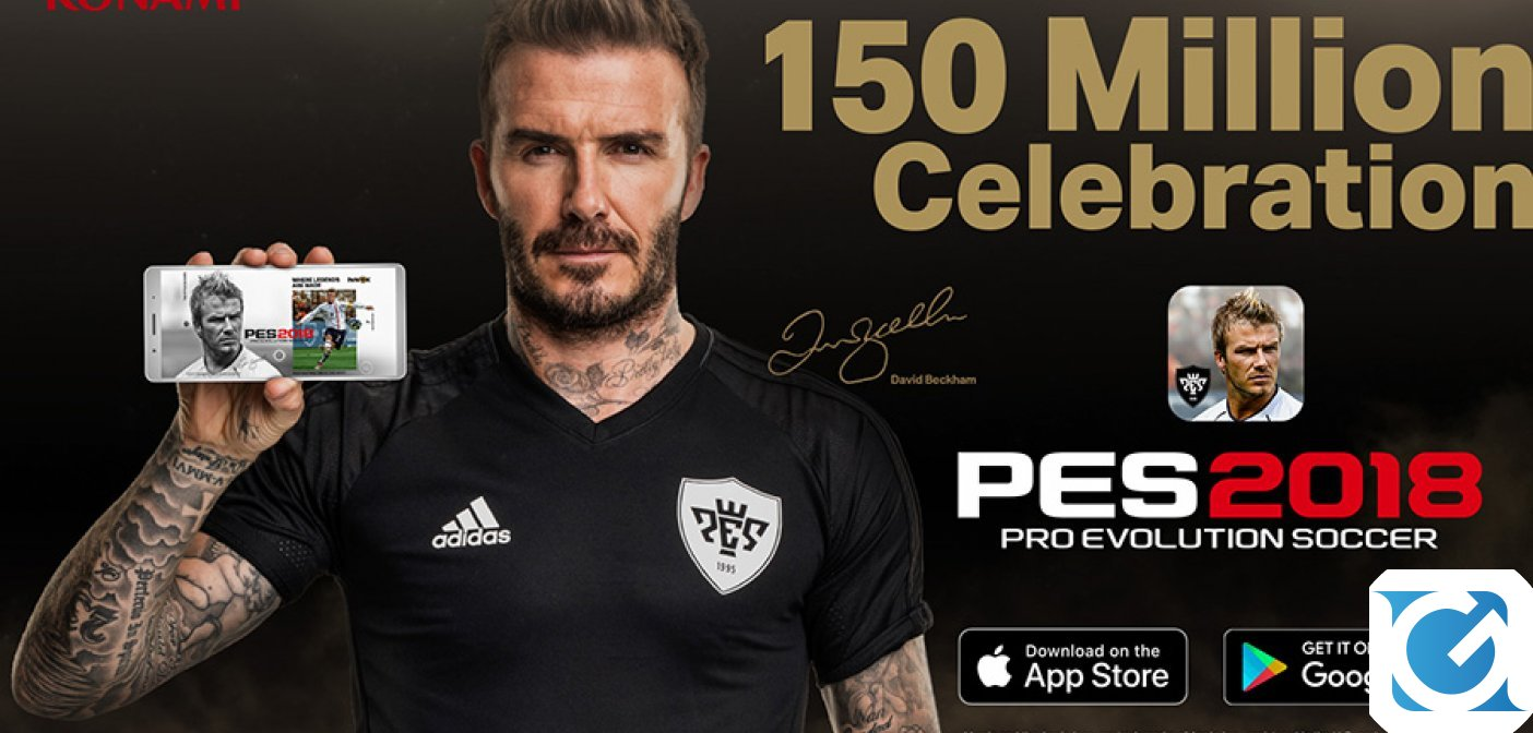 PES 2018 Mobile ha raggiunto i 150 milioni di download!