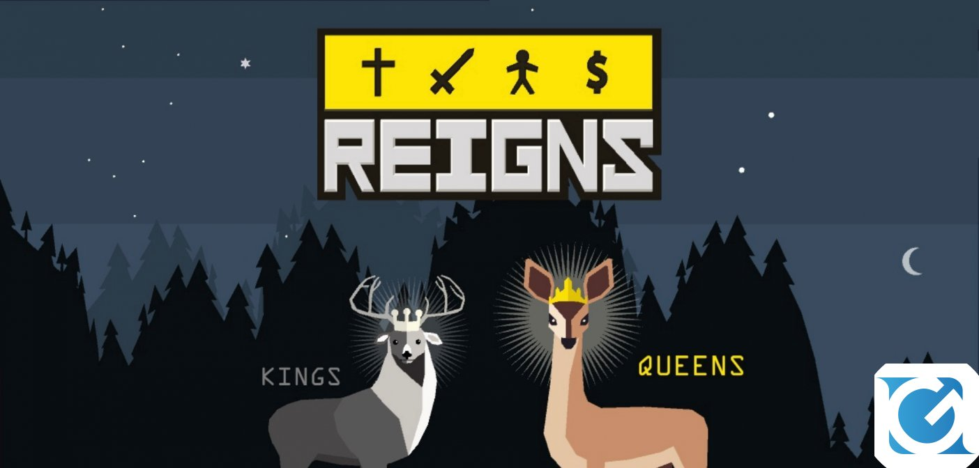 REIGNS: Kings and Queens e' disponibile su Switch