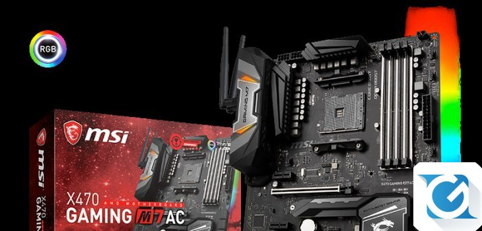 MSI presenta AM4 X470 GAMING, la line-up di schede madri per i nuovi processori AMD