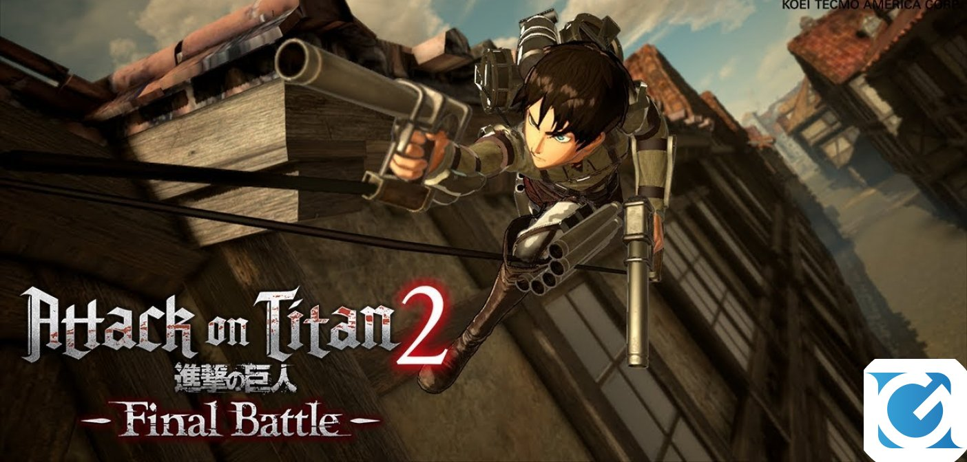 Atack on Titan 2: Final Battle è ora disponibile per PC e console
