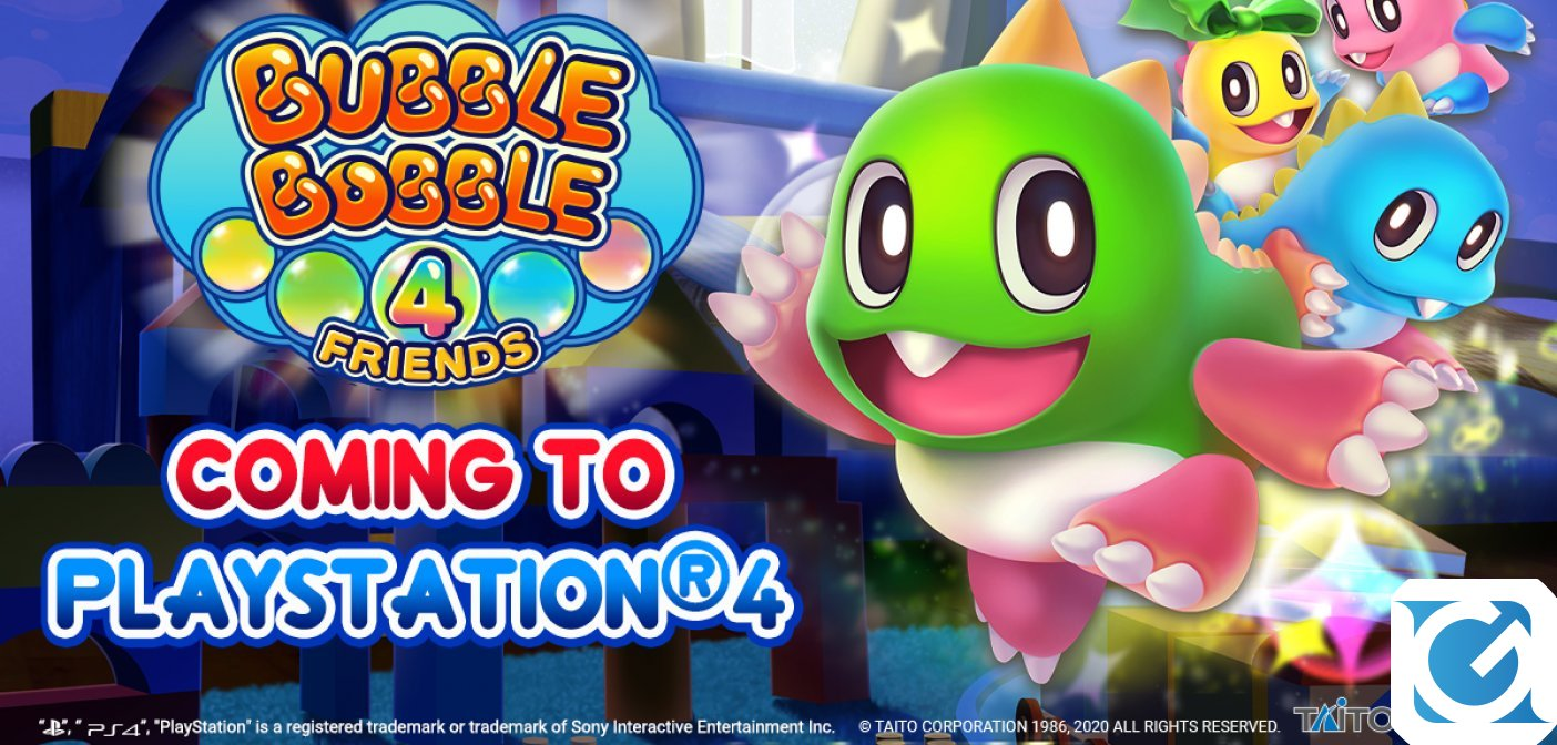 Bubble Bobble 4 Friends arriverà anche su PS4