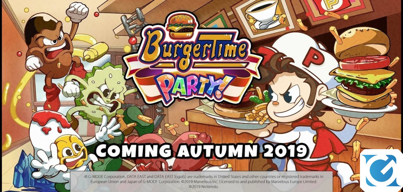 BurgerTime Party! Arriva l'8 ottobre su Nintendo Switch