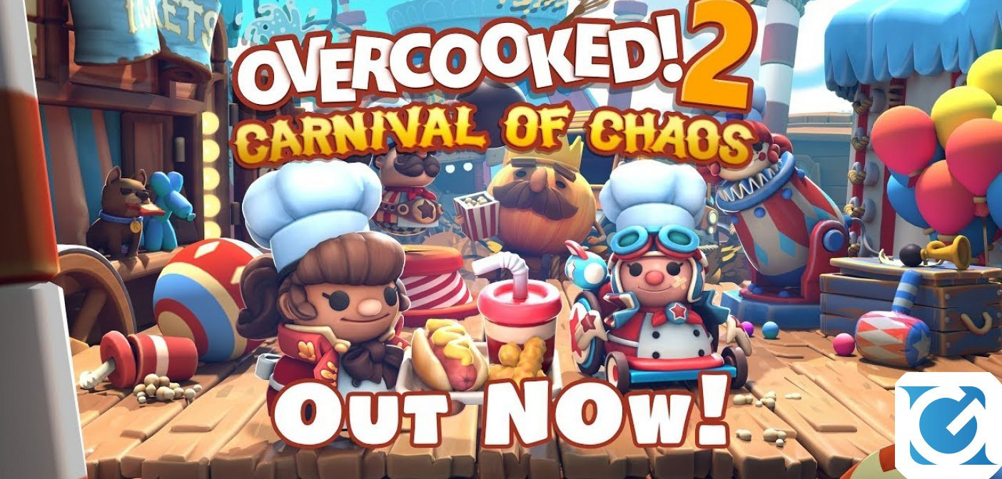 Carnival of Chaos per Overcooked 2 è disponibile