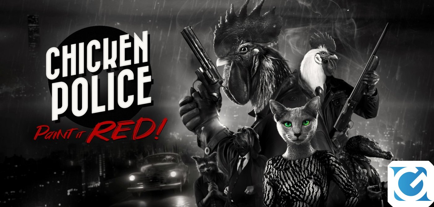Chicken Police - Paint It Red! è disponibile per PC e console