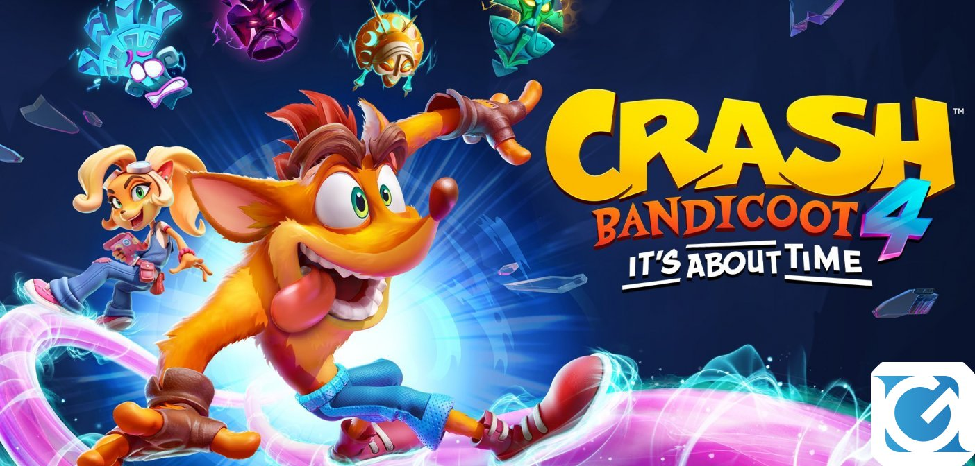 Crash Bandicoot 4: It's About Time è disponibile su PS 5, XBOX Series X/S e Nintendo Switch