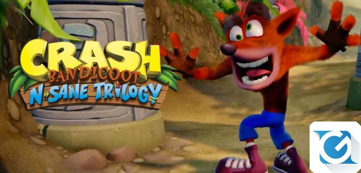 Crash Bandicoot 'Nsane Trilogy e' finalmente disponibile per XBOX One, Nintendo Switch e PC