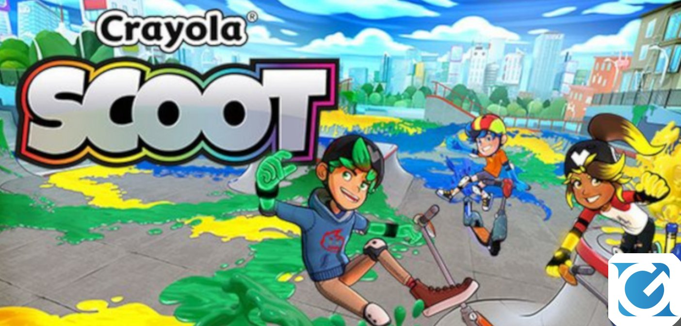 Crayola Scoot è disponibile in versione fisica per PlayStation 4 e Nintendo Switch