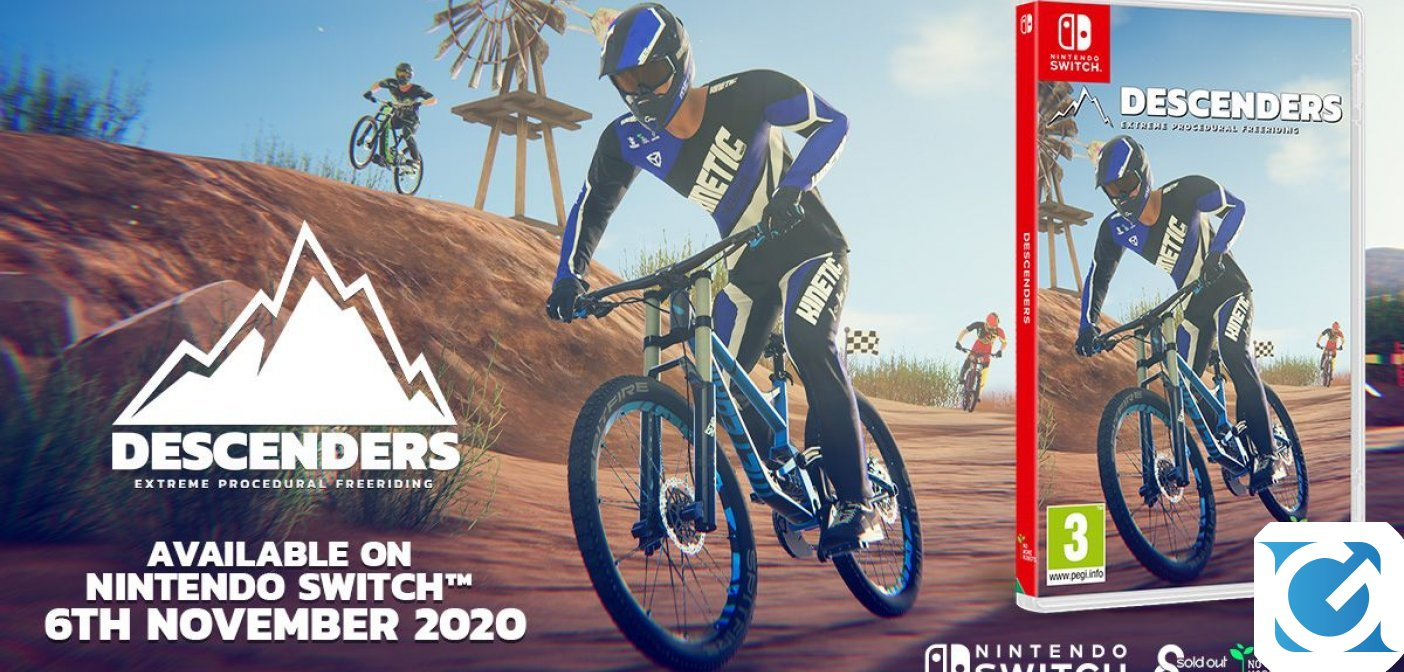 Descenders arriva su Nintendo Switch il 6 novembre