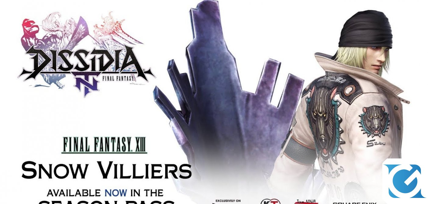 Snow Villiers è disponibile in Dissidia Final Fantasy NT