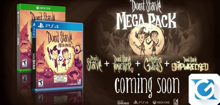 Dont' Starve Mega Pack: in arrivo la versione XBOX One e Playstation 4