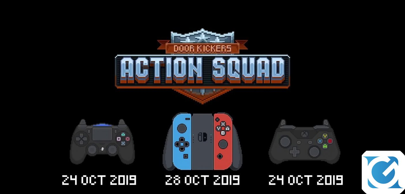 Door Kickers Action Squad è disponibile su PC, XBOX One e PS4 e lunedì arriva su Switch