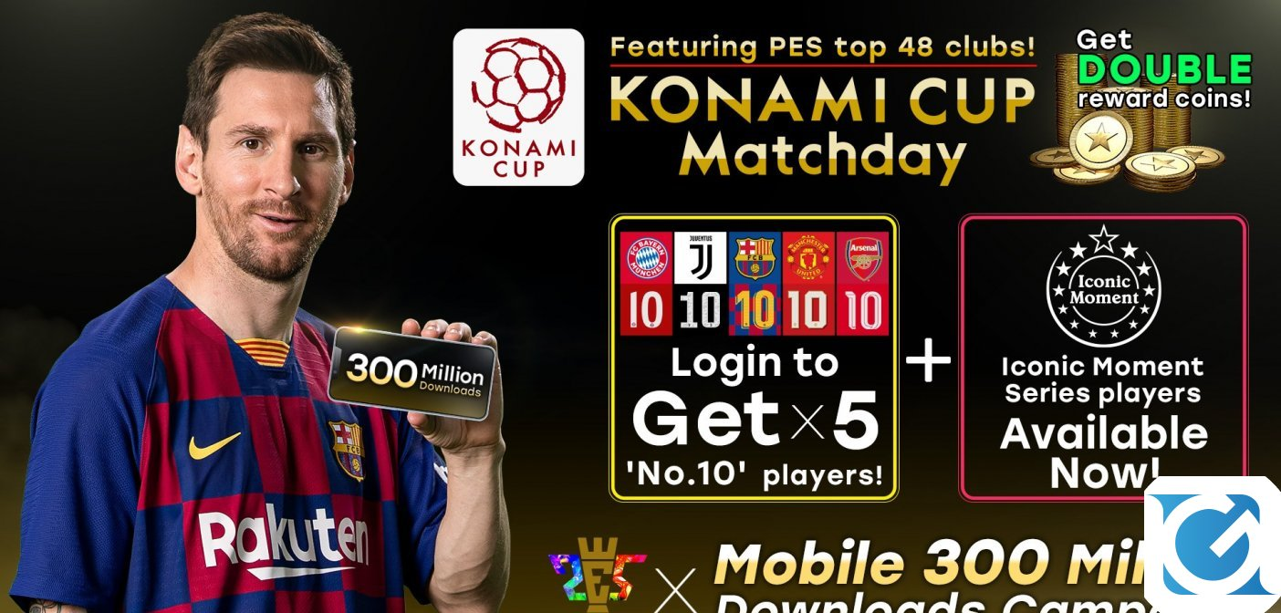 Efootball PES 2020 per dispositivi mobile supera i 300 milioni di download