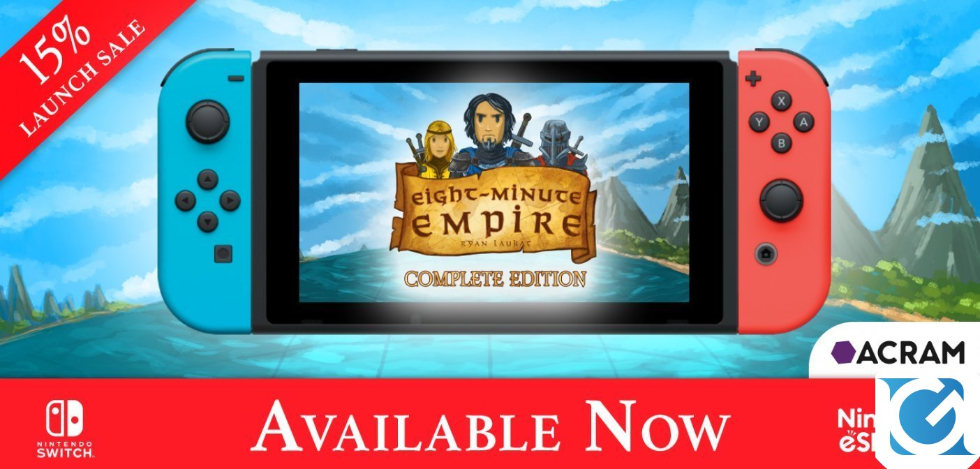 Eight-Minute Empire: Complete Edition sarà disponibile da domani su Switch