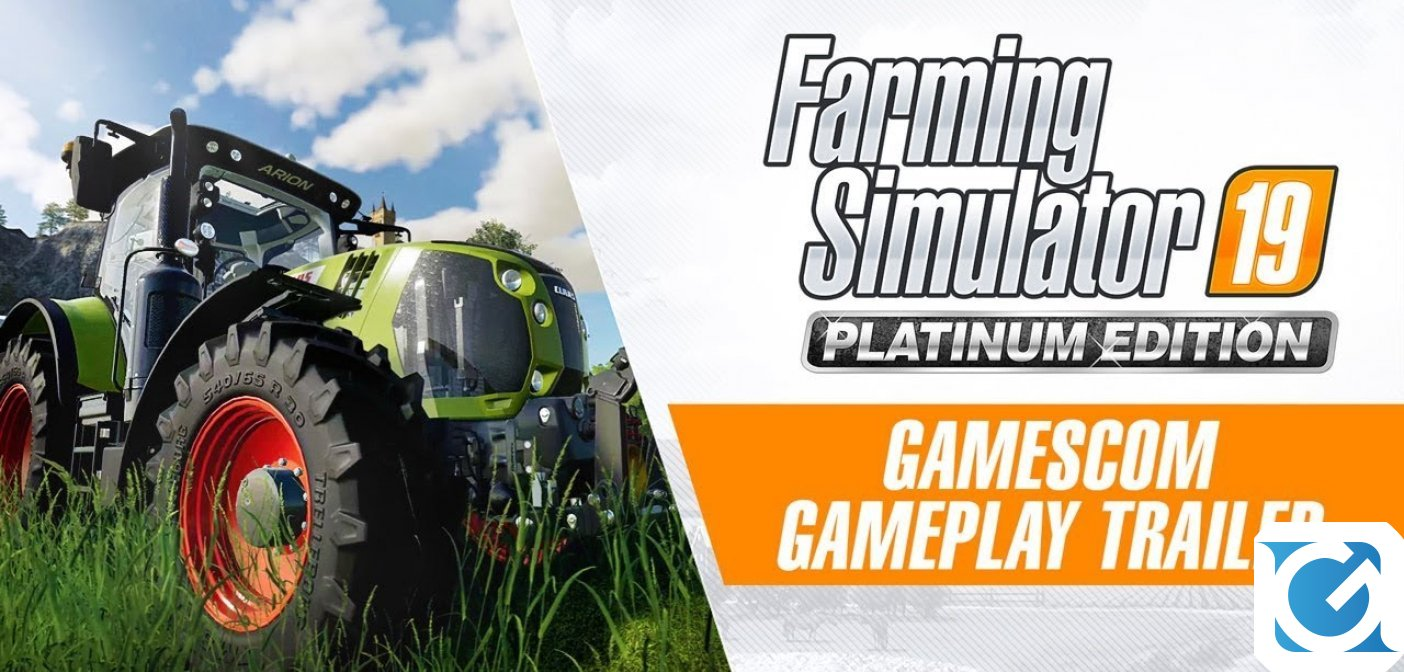 Pubblicato un gameplay trailer per Farming Simulator 19 Platinum Edition