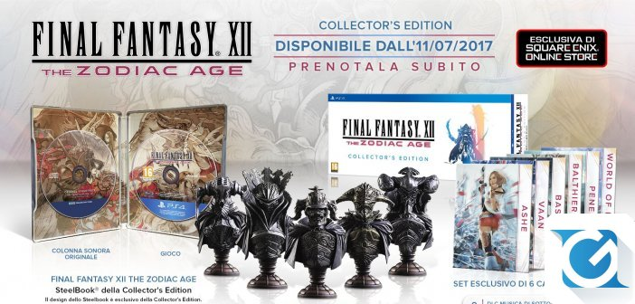 Final Fantasy XII The Zodiac Age Svelata la collector's edition