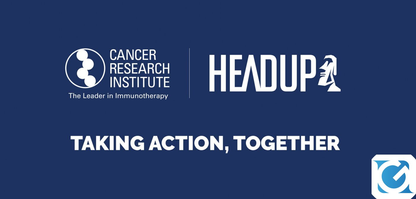 Headup Games e Cancer Research Institute insieme contro il cancro