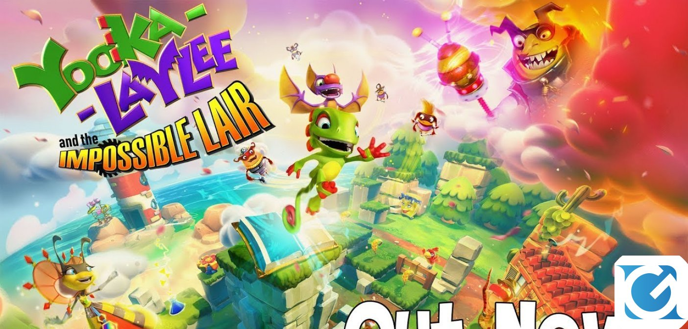 Il colorato platform Yooka-Laylee and the Impossible Lair è finalmente disponibile