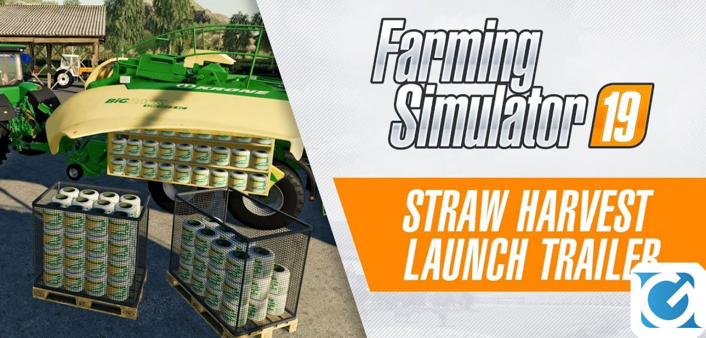 Il DLC gratuito Straw Harvest di Farming Simulator 19 è disponibile