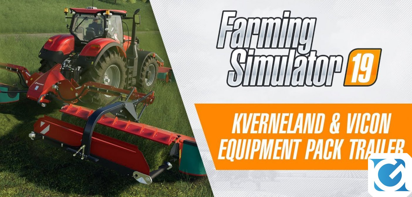 Il dlc Kverneland & Vicon Equipment Pack per Farming simulator 19 è disponibile e include tanti nuovi macchinari agricoli