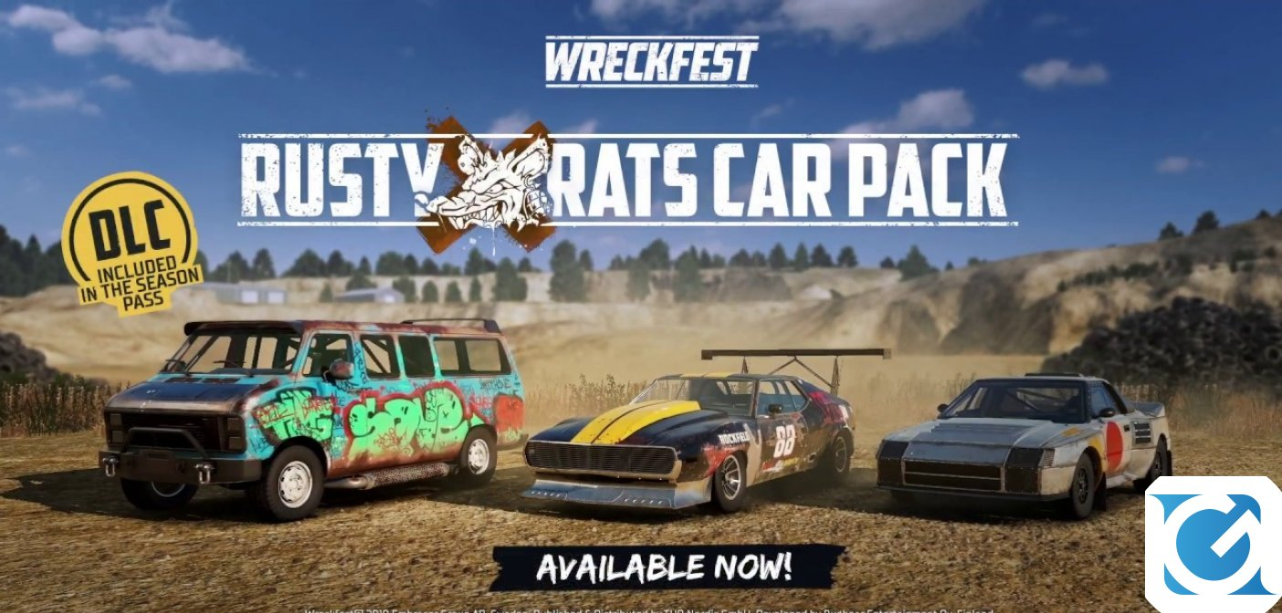 Il Rusty Rats Car Pack per Wreckfest è disponibile