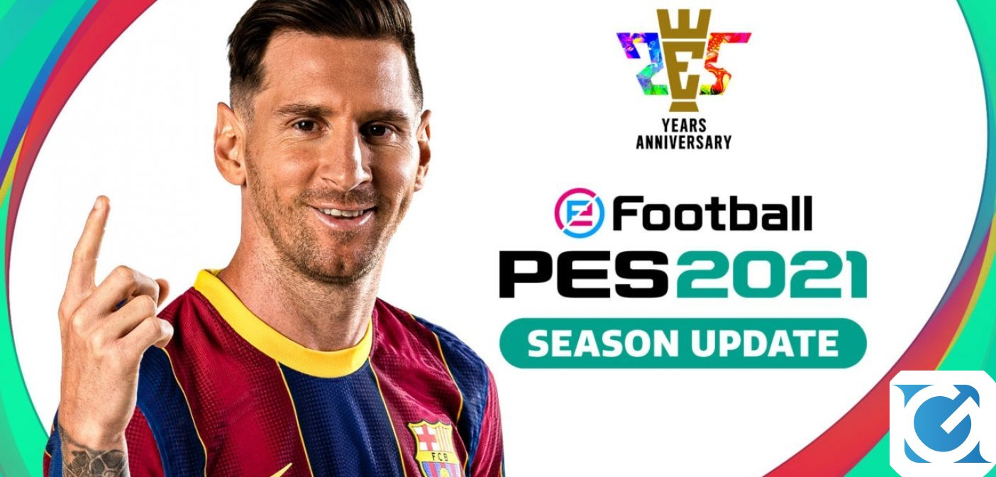 Konami annuncia eFootball PES 2021 Season Update, disponibile dal 15 settembre