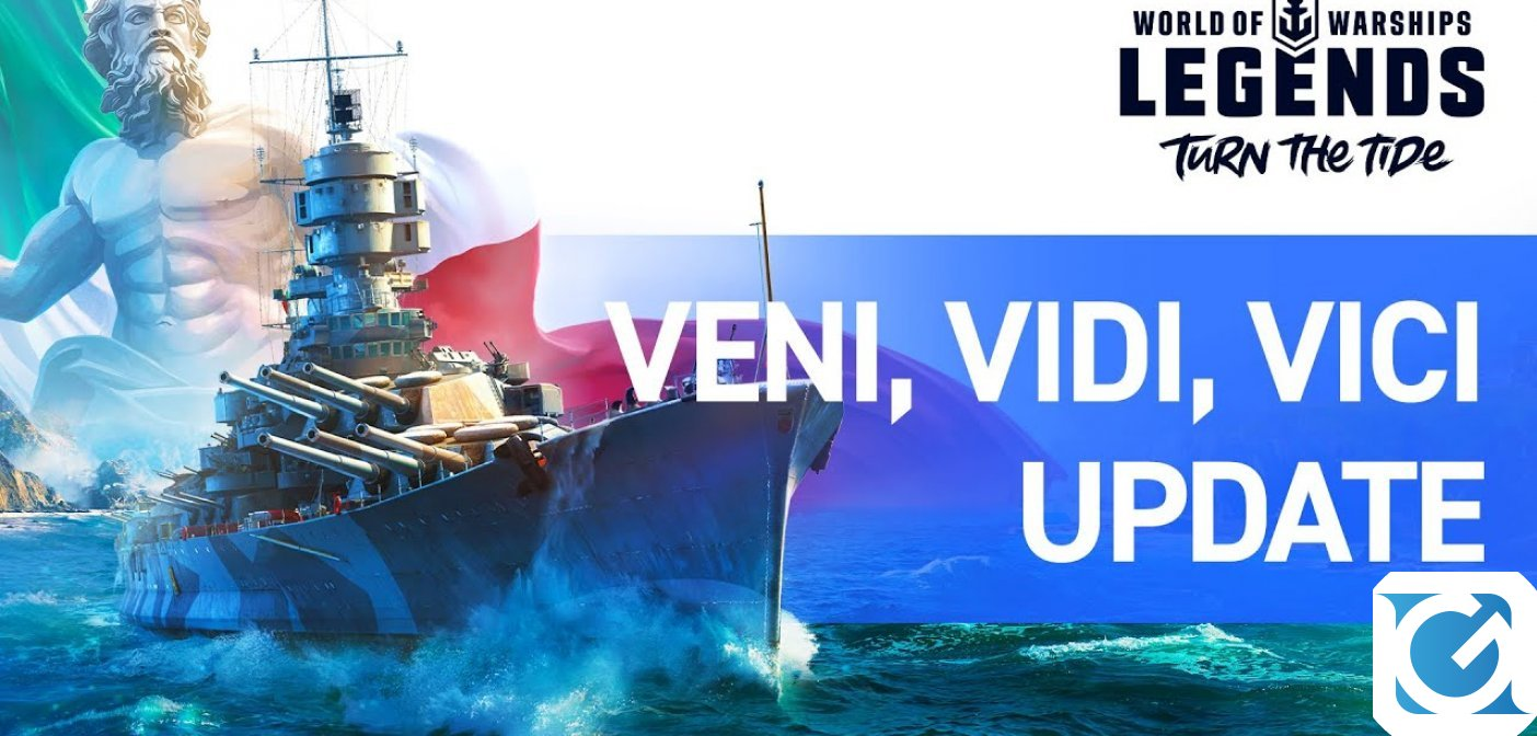 L'aggiornamento Veni, Vidi, Vici di World of Warships Legends introduce nuovi incrociatori italiani