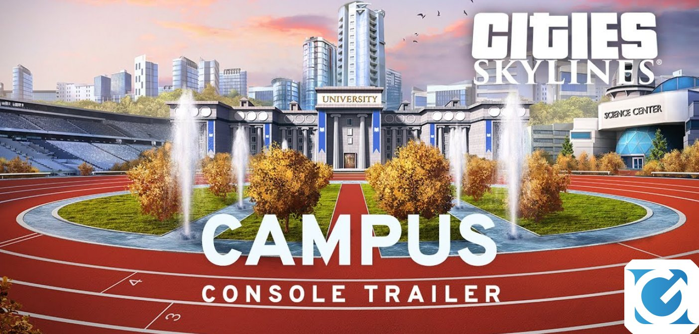 L'espansione Campus è disponibile per Cities: Skylines