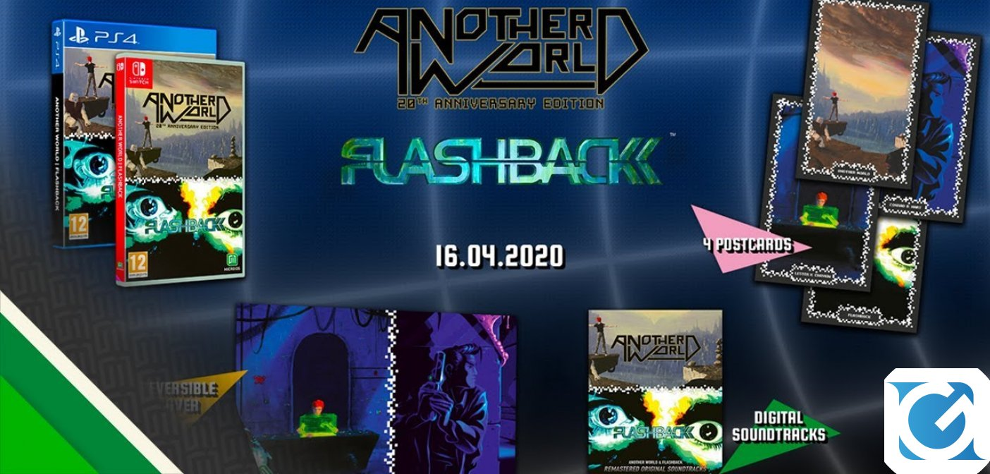 La compilation di Another World e Flashback è disponibile per Switch e PS4