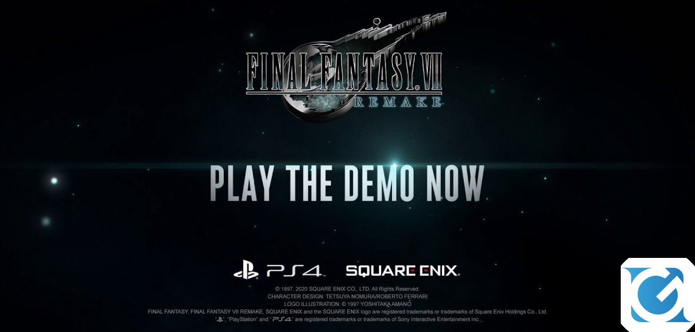La demo di FINAL FANTASY VII REMAKE è disponibile per PS4