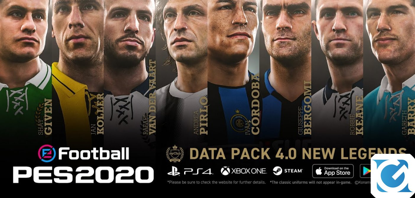 Online il nuovo trailer del Data Pack 4 per eFootball PES 2020