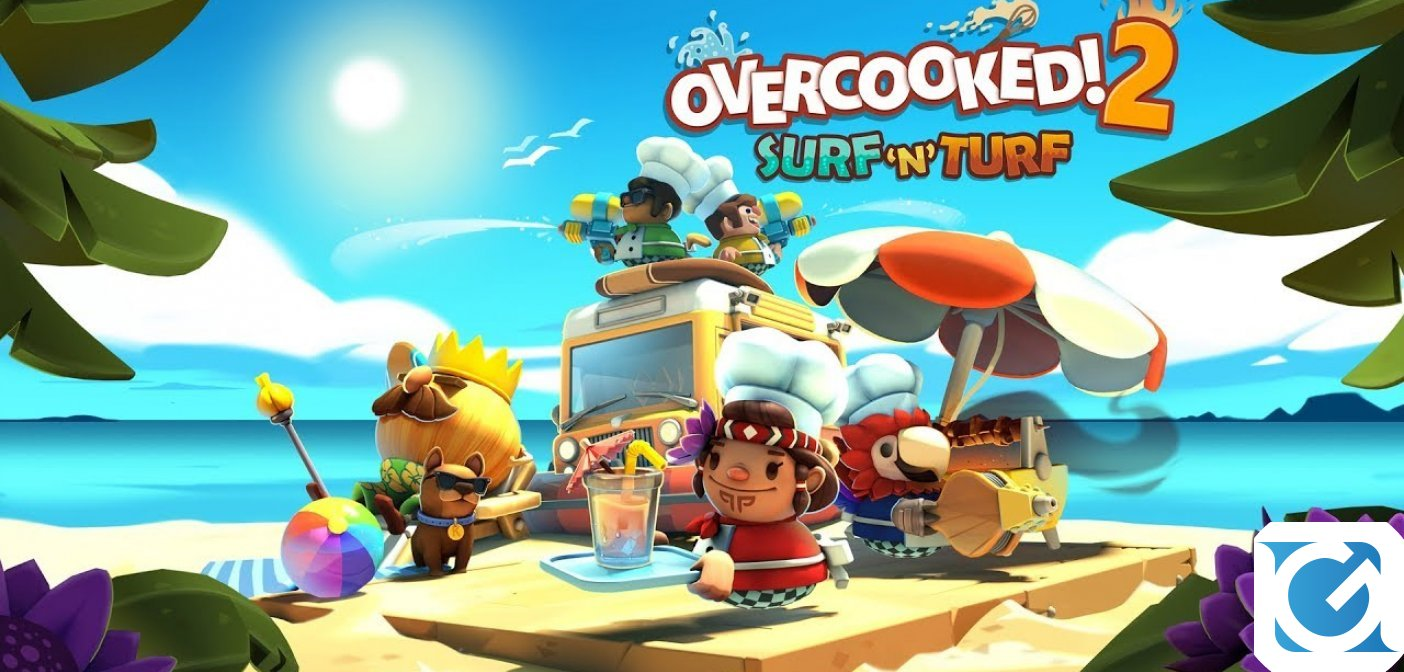 Il DLC Surf 'n' Turf e' disponibile per Overcooked 2