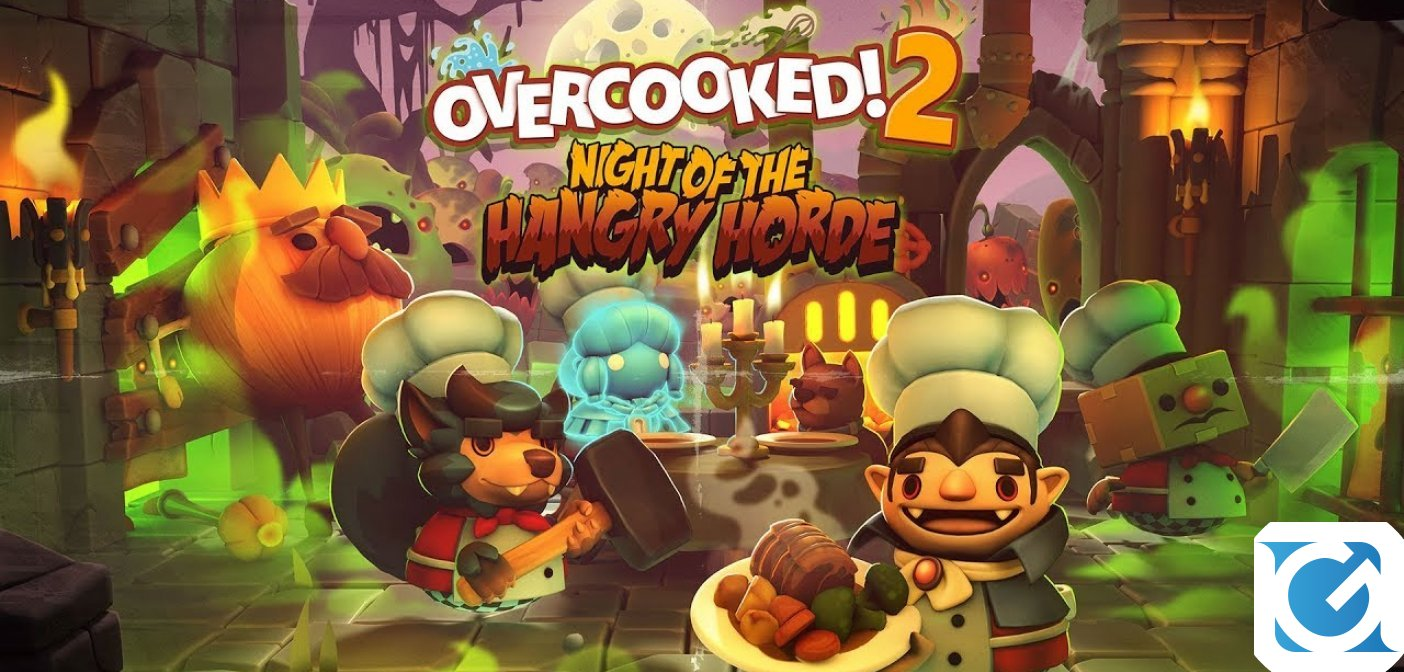 Il DLC di Overcooked! 2: Night of the Hangry Horde è disponibile