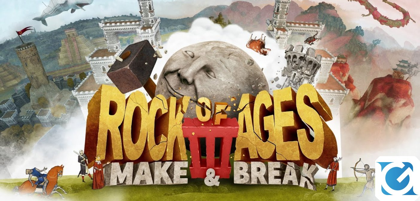 Rock of Ages 3: Make & Break è disponibile per PC e console