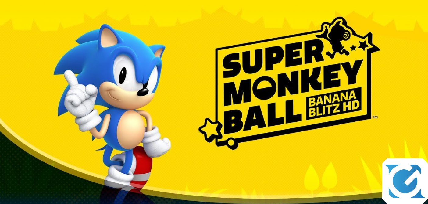 Sonic the Hedgehog arriva in Super Monkey Ball: Banana Blitz HD!