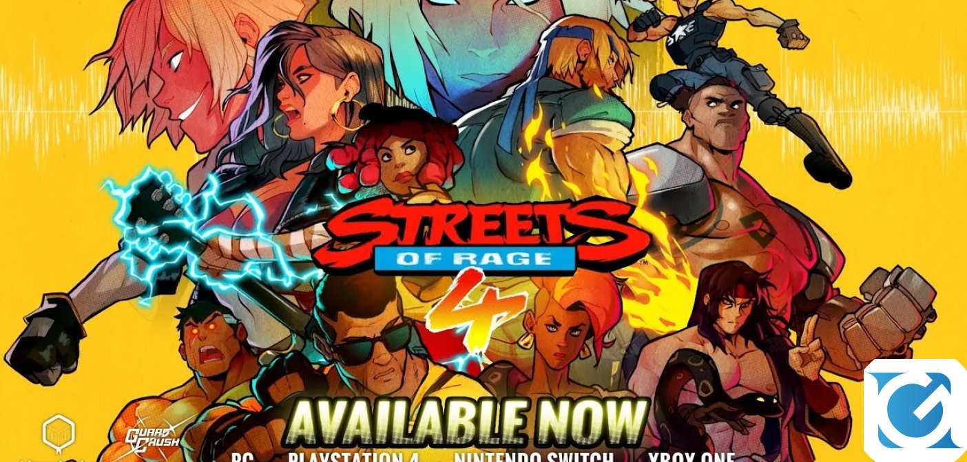 Streets of Rage 4 è disponibile per PC e console