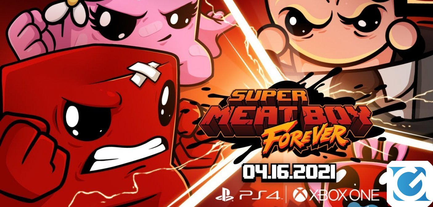 Super Meat Boy Forever arriva su XBOX e Playstation il 16 aprile