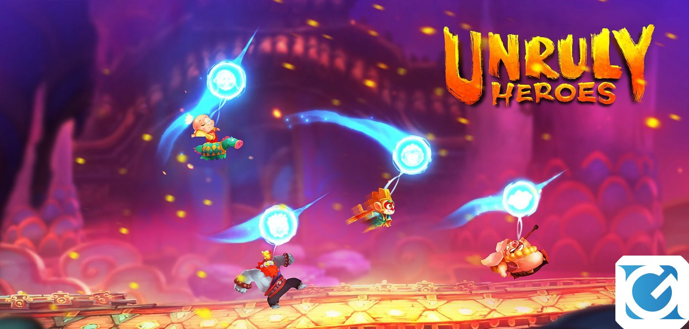 Unruly Heroes è disponibile da oggi per XBOX One, PC e Nintendo Switch