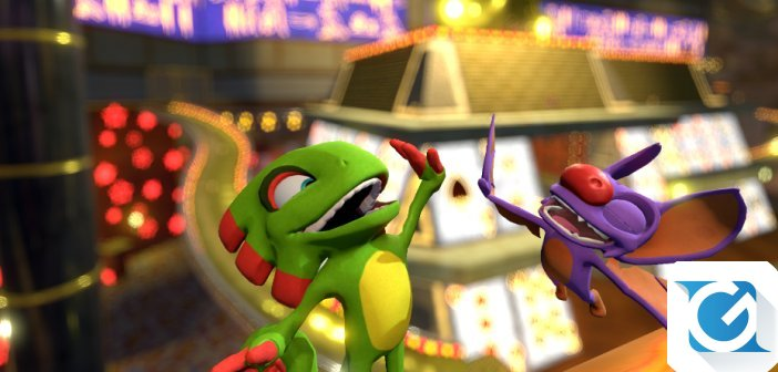Yooka-Laylee e' disponibile su XBOX One, Playstation 4 e PC