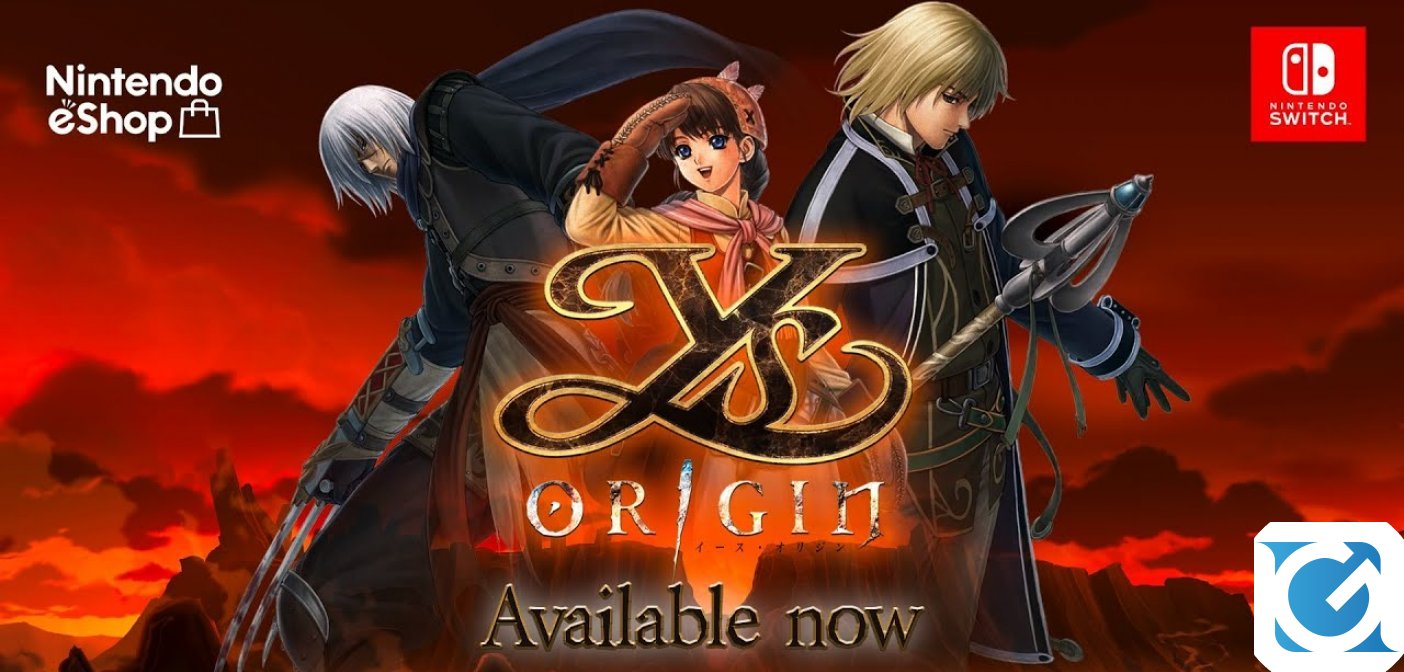 Ys Origin è disponibile su Nintendo Switch